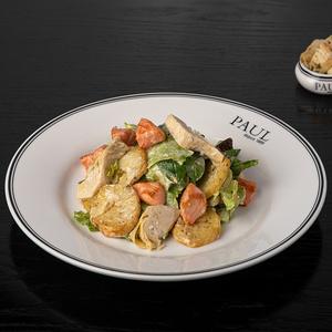 Картофельный салат с лососем